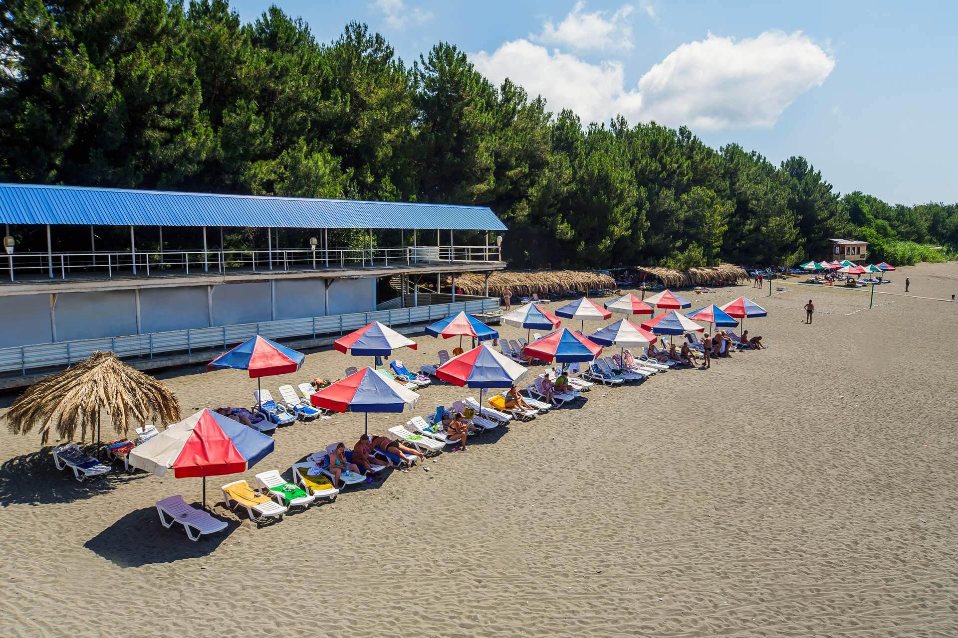 Пицунда пляж 2018 фото